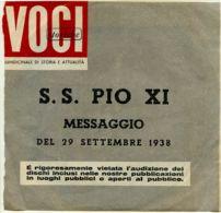 ARV 3  - DISCO 45 GIRI - MESSAGGIO DI S.S. PIO XI - Religion & Esotericism