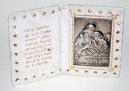 ARV 10  -RICORDO DELLA PRIMA COMUNIONE - LAMIERINO CON PREGHIERA IN PORTARITRATTO - Dimensioni Mm. 118 X 80 - Religion & Esotericism