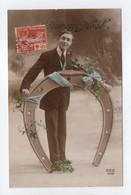 - Carte Postale Pour Saint-Pierre-la-Vieille (Calvados) - 10 C. + 5 C. Rouge Croix-Rouge 1914 - - 1906-38 Sower - Cameo
