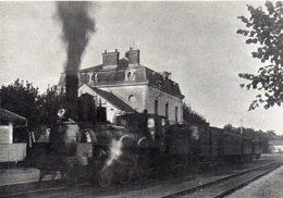 CPM Locomotive à Vapeur 120.065 De 1879/83 En Gare De Guîtres Vers 1925/30 - Gares - Avec Trains