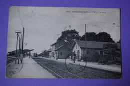 CPA 03 VARENNES-SUR-ALLIER LA GARE ANIMEE Canton SAINT POURCAIN SUR SIOULE 1914 - Other Municipalities