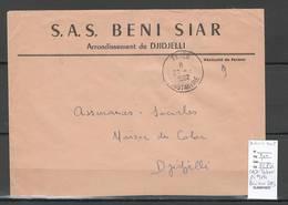 Algerie -Lettre - En Tete BENI SIAR SAS + Cad TAHER - Marcophilie - Algeria (1924-1962)