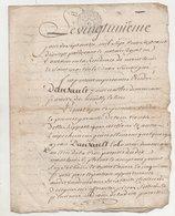Touraine Vente Vignes Montlouis 1777 Neuillé-le-Lierre - Manuscripts
