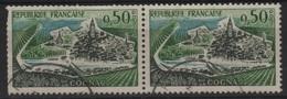 FR VAR 2 - FRANCE N° 1314a + B Obl. En Paire Péniches Manquantes - Errors & Oddities