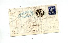 Lettre Cachet Losange + Marennes Sur Napoleon + Saintes  Pons - Marcophilie (Lettres)