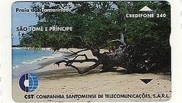 SAO TOME & PRINCIPE Landis & Gyr L&G___STM-07 (911L)___240u Beach - Sao Tome And Principe
