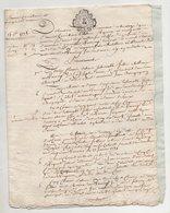 Touraine Comprenant 4 Papiers Vouvray 1775 - Manuscripts