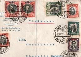 ! 1928 Chile Luftpostbrief Air Mail, Via Aerea, Valparaiso N. Chemnitz - Cile