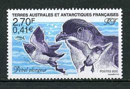 TAAF 2001 N° 288 ** Neuf MNH Superbe Faune Oiseaux Pétrel Plongeur Birds Animaux - Terres Australes Et Antarctiques Françaises (TAAF)
