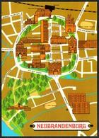 D3246 - TOP Neubrandenburg Stadtkarte Stadtplan - Scheuner - Bild Und Heimat Reichenbach - Neubrandenburg