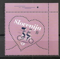 SLOVENIA 2020, LOVE STAMP,,VALENTINE S DAY,BYCICLE,,MNH - Slovenia