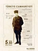 AC -  TURKEY BLOCK STAMP  - CENTENARY OF THE NATIONAL SOVEREIGNTY MUSTAFA KEMAL ATATURK MNH 28 JANUARY 2020 - 1921-... Republiek