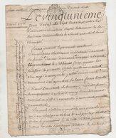 Touraine Montlouis 1776 - Manuscripts