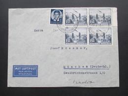 Jugoslawien 1939 Flugpost Par Avion Flugzeug MiF Dubrovnik Nach München Umschlag Mit Luftpost 5 Stempel!! - 1931-1941 Kingdom Of Yugoslavia