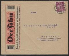 1921 - Dt.Reich EF 60Pf Mi.165 LOCHUNG PERFIN. ILLUSTRIERTER UMSCHLAG DER FILM - Allemagne