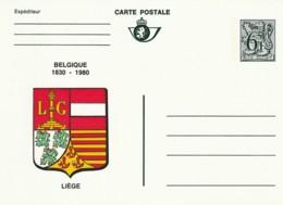 Carte Postale - 6F- Belgique 1830-1980 - Liège - Postwaardestukken