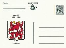 Briefkaart - 6F- België 1830-1980 - Limburg - Postwaardestukken