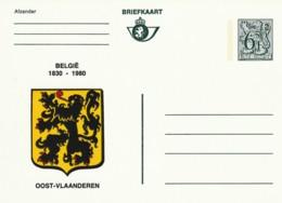 Briefkaart - 6F- België 1830-1980 - Oost-Vlaanderen - Postwaardestukken