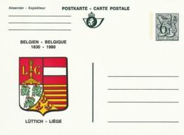 Postkarte - Carte Postale - 6F- Belgien-Belgique  1830-1980 - Lüttich-Liège - Postwaardestukken