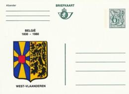 Briefkaart - 6F- België  1830-1980 - West-Vlaanderen - Postwaardestukken