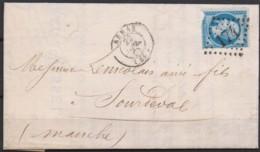 Lettre  Du 22/07/1865 D'ARRAS (61)  GC 174 - 1849-1876: Période Classique