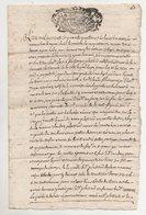 Savoie Les Chapelles Montvalezan Sur Bellentre 1754 - Manuscripts