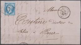 Lettre  Du 12/04/1867 D'Antibes  (87)  GC 117 - Marcofilie (Brieven)