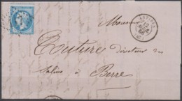 Lettre  Du 12/04/1867 D'Antibes  (87)  GC 117 - 1849-1876: Classic Period