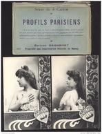 CPA Bergeret Nancy Serie De 5 Cartes - Profils Parisiens + Pochette - Bergeret