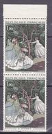 N° 1703 Oeuvres D'Art: Femme Au Jardin De Monet: Belle Paire De 2  Timbres Neuf Impeccable - Ongebruikt