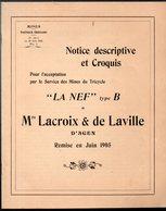 Agen (47 Lot Et Garonne ) Dossier Pour Passage Aux Mines TRICYCLE LA NEF  De Lacroix Et De Laville  1905 (CAT 1597) - Vieux Papiers