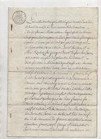 Savoie Granier Montvalezan Sur Bellentre 1821 De 8 Pages - Manuscripts
