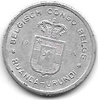 *belgium Congo Rwanda Urundi 50 Centiemes  1954  Km 2  Vf+ - Otros