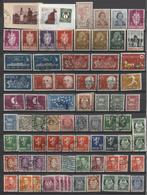 + 70 Zegels Restant Verzameling - Zie Scan + 70 Timbres Restant D'une Collection - Dubbels - 3 Zegels Op Fragment - Norvège