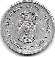 *belgium Congo Rwanda Urundi 50 Centiemes  1955  Km 2  Xf - Congo (Belgisch) & Ruanda-Urundi