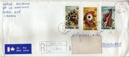 Canada Sorel Air Mail R - Letter 1976 Via Yugoslavia,Macedonia - Stamps Motive - 1976 Olympic Games - Montreal. 2 Scans - 1952-.... Règne D'Elizabeth II