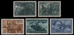 Russia / Sowjetunion 1943 - Mi-Nr. 865-869 ** - MNH - Vaterländischer Krieg - 1923-1991 UdSSR