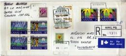 Canada Sorel Air Mail R - Letter 1977 Via Yugoslavia,Macedonia - Nice Stamps . 2 Scans - 1952-.... Règne D'Elizabeth II