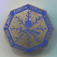 VINTAGE CURLING EISSCHIESSEN EUROPA CUP REGEN 1966 ENAMEL PIN BADGE ABZEICHEN!!! - Wintersport