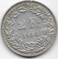Suisse - 2 Francs - 1944 - Argent - Suisse