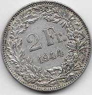 Suisse - 2 Francs - 1944 - Argent - Switzerland