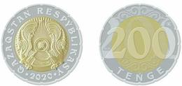 Kazakhstan 2020.Coin Of New Face Value - 200 Tenge. Bimetal.UNC.NEW!!! - Kazakhstan