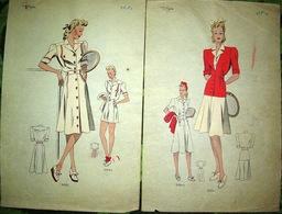 Atelier Sogra Fashion Mode 2 Dessins Graphics Tennis - Vieux Papiers