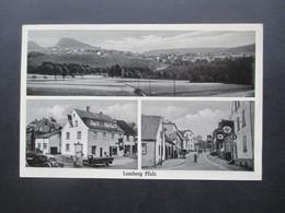 Alte Mehrbild AK Lemberg Pfalz Hakenkreuz Fahnen Gasthaus Monzinger Bierstube Oskar Huber Lemberg Pfalz - Alberghi & Ristoranti