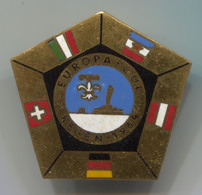 VINTAGE CURLING EISSCHIESSEN EUROPA CUP REGEN 1964 ENAMEL PIN BADGE!!! - Wintersport