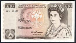 England - 10 Pounds 1975 - P.379b - 1952-… : Elizabeth II