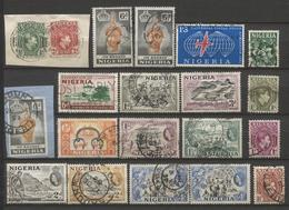 20 Zegels Restant Verzameling - Zie Scan  / 20 Timbres Restant D'une Collection - Dubbels - 3 Zegels Op Fragment - Nigeria (1961-...)