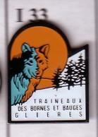 I33 Pin's Chien De Traîneau Husky Glières-Val-de-Borne Savoie Mont Blanc Sled Dog Achat Immédiat - Animaux