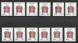 Monaco 1985-1986 Mi. Nr. 79-90 MNH - Monaco