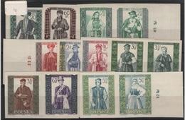 COST 13 - POLOGNE N° 1003/22 NON DENTELES Bords De Feuilles Neufs** Se Tenant Costumes - 1944-.... République